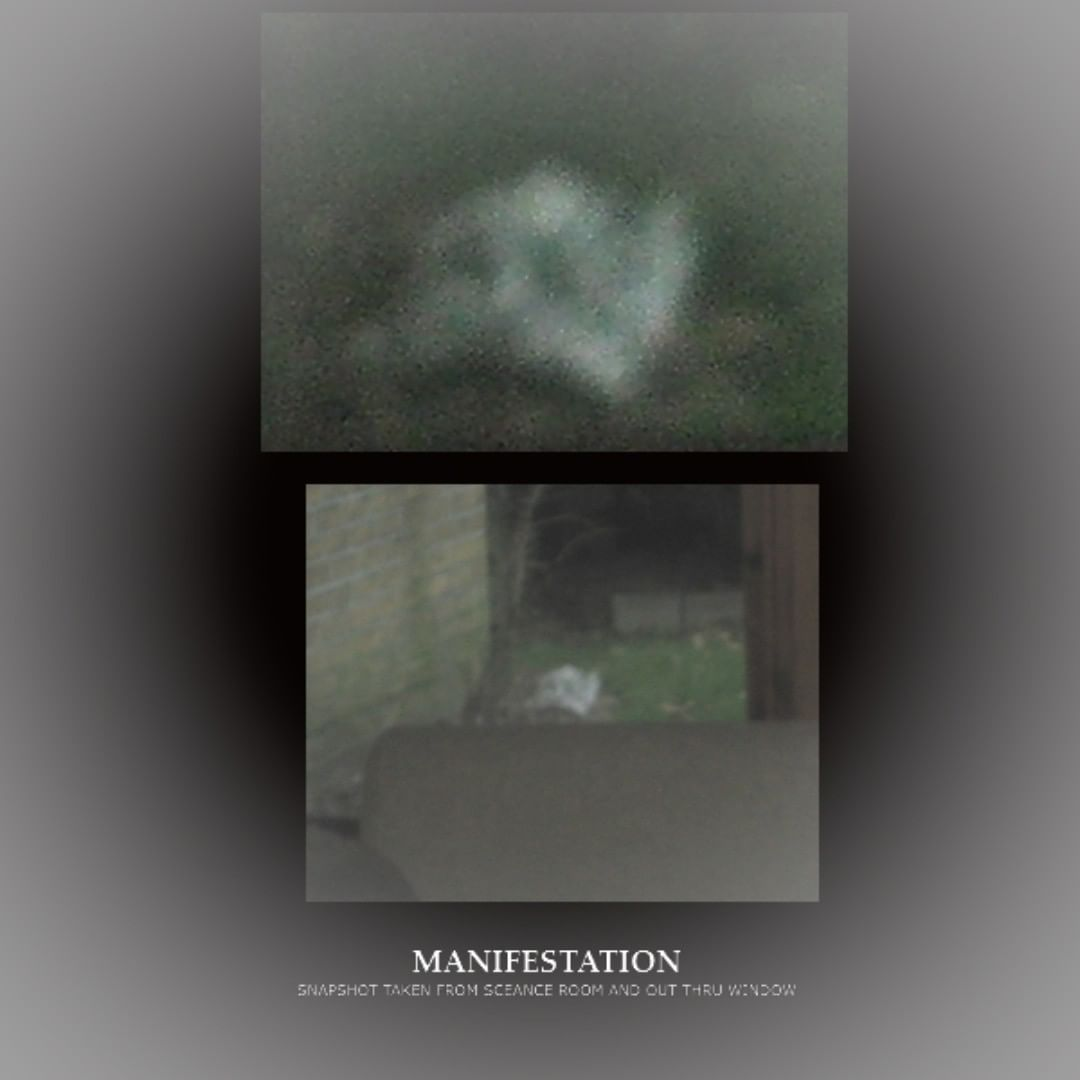 Manifistation - Apparition looking outside window of sceance room