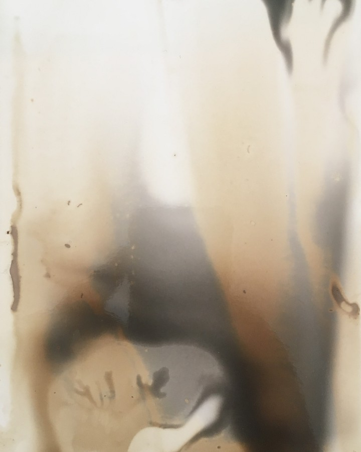 Scotography - An image imprinted by spirits appearing on unexposed film
